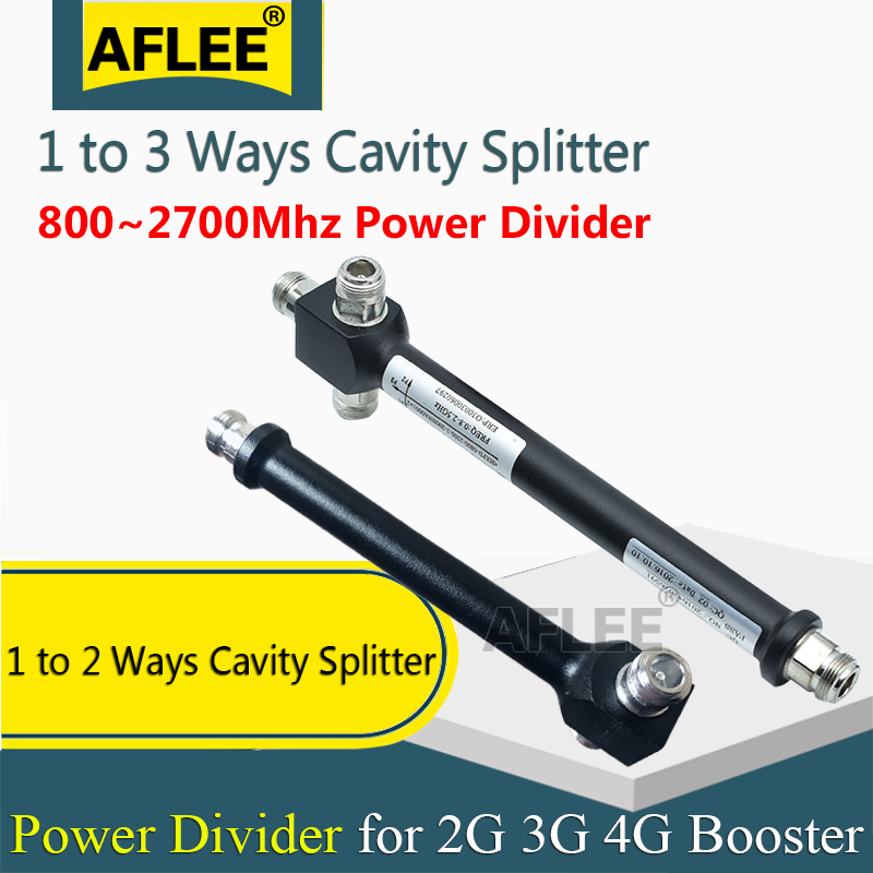 800-2700Mhz 1 To 2 Ways /1 To 3ways N Female Power Splitter Cavity Divider For 2g 3g 4g Mobile Signal Booster GSM 4G Repeater