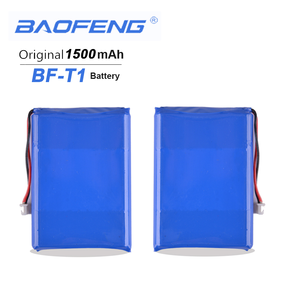 2PCS Mini Baofeng BF-T1 3.7V 1500mAh Li-ion Battery For Baofeng BFT1 Walkie Talkie BF T1 Two Way Radio Baofeng Radio Accessories