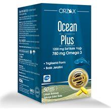 Orzax Ocean Plus oméga 3 1200 mg 50 gélules huile de poisson 780 mg oméga 3 gélules gélatine de poisson EPA/DHA