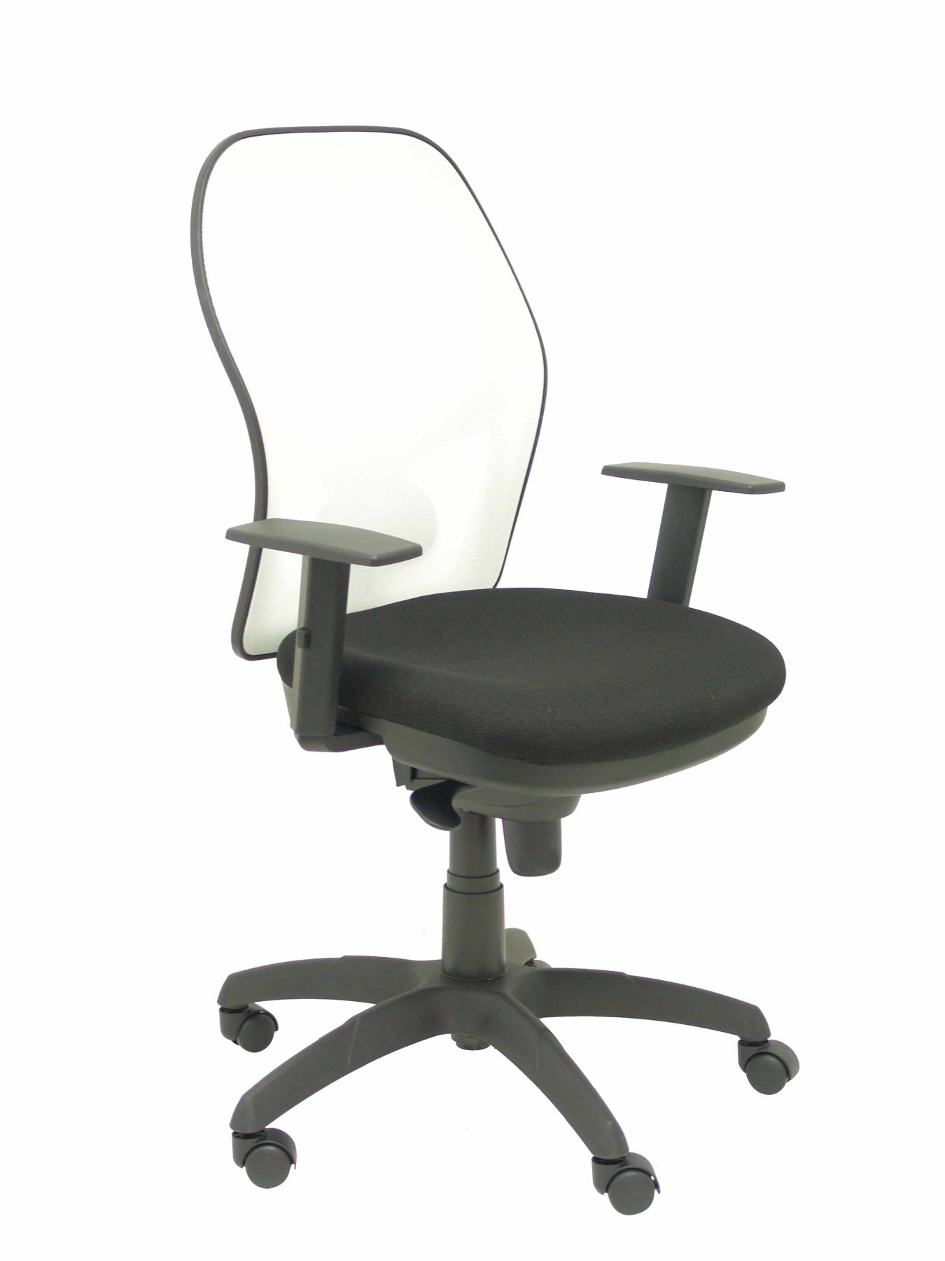 Ergonomic Office Chair With Mechanism Synchro, Arms Adjustable And Height-adjustable Mesh Back Transpirab