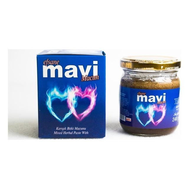 Efsane Mavi Epimedium Turkish Honey Mix Macun Paste – Horny Goat Weed Gindseng Cinnamon  Aphrodisiac Turkish Paste, 240gr, Halal 2