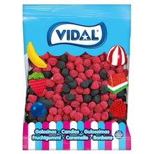 GOMINOLAS VIDAL BlackBerry 1 KG bag. Sweets coated with candy balls and intense Blackberry flavor. GLUTEN Free