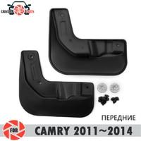 Palas carro para Toyota Camry 2011 ~ 2014 mudflaps respingo guardas mud flap mudguards fender acessórios do carro da frente