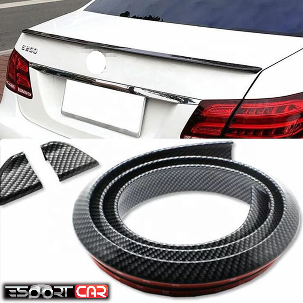 Universal Spoiler 1.5M Car-Styling 5D Carbon Rubber Tail Spoiler PU Carbon Brazing Refit Spoiler Suitable By All Type Of Car