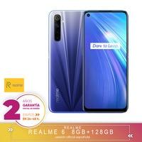 [Official Spanish version warranty] Realme 6 4 + 64gb  4 + 128gb  8 + 128gb Smartphone Octa Core  Four camaras  reader side paw prints|Cellphones| |  -