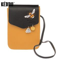 Sac femme orange/noir keddo