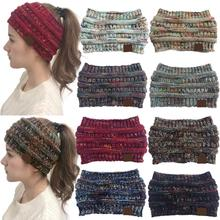 8 цветов, головная повязка из мохера, женские тянущиеся вязаные крючком шапки, зимние шапки для рождества, вечерние, подарок для женщин, шапка, теплая, для девушек, грязная булочка