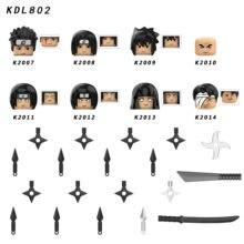 Único naruto akatsuki figura hchiha sasuke itachi yahiko hidan hoshigaki kisame blocos de construção modelo tijolos brinquedo kdl802