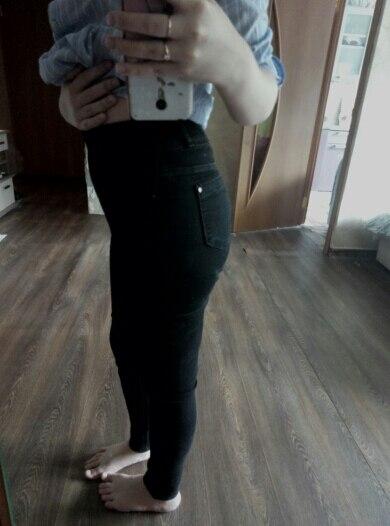 Woman  High Waist Plus Size Stretch Summer Autumn   Full Length  Skinny Slim Denim Pants For Women Black Blue 5Xl  6Xl photo review