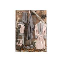 Lace Vita Bamboo Family Bathrobe Set Jasmin Powder-Gray