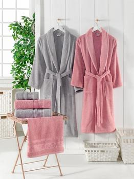 Microcotton bathrobe family set 6