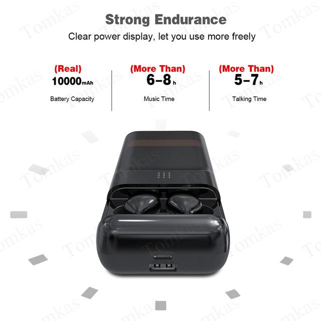 10000mAh Bluetooth Earphones LED Display Wireless