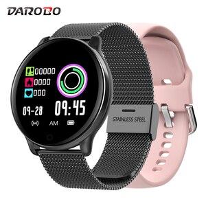 Image 1 - DAROBO SE01 hommes Sport montre intelligente IP68 tension artérielle oxygène sanguin moniteur de fréquence cardiaque musique météo prévisions femmes Smartwatch