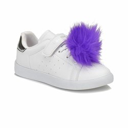 FLO POPY White Female Child Sneaker Shoes KINETIX