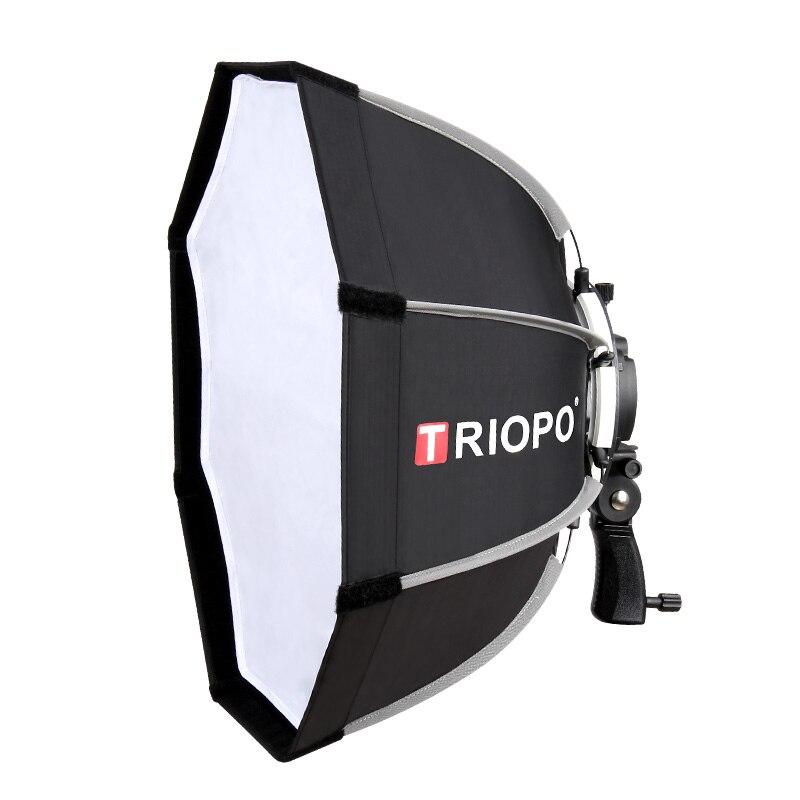 TRIOPO 65cm boîte souple pliable octogone boîte souple pour Godox Yongnuo Speedlite Flash lumière photographie studio accessoires avec poignée