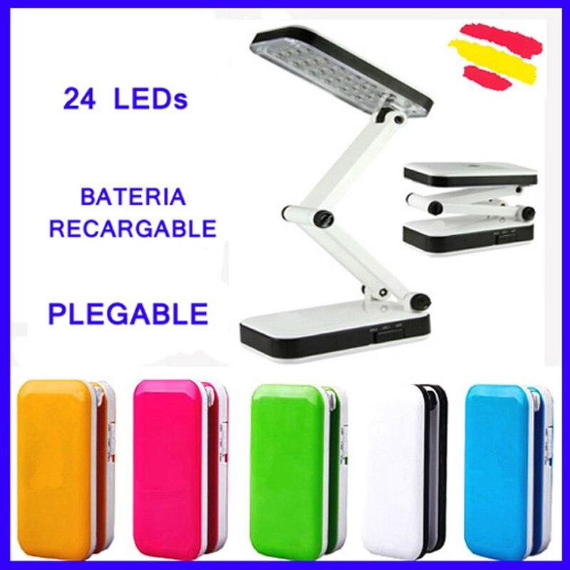 Лампы FLEXO 24 светодиодный S складной перезаряжаемый аккумулятор без кабелей светодиодный Цвет белый Высокая яркость портативный Настольный ...