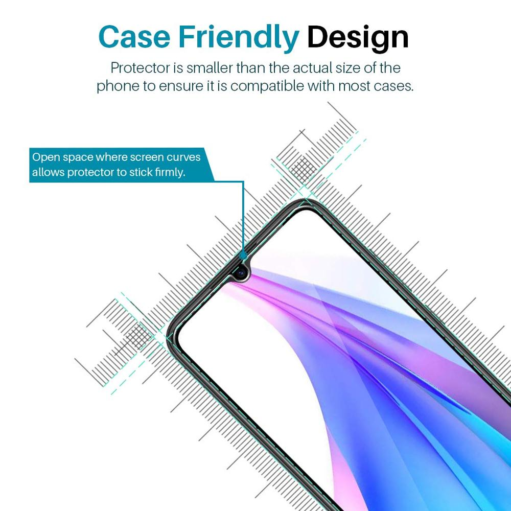 Full Tempered Glass Screen Protector for Xiaomi Redmi Note 8T Protection glass Protection for Smartphone 6