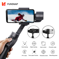Funsnap Handheld Gimbal Stabilizer Track Focus Pull&Zoom for SmartPhone Xs Max Sam sung Action Camera Gimbal Smartphone Xiao mi