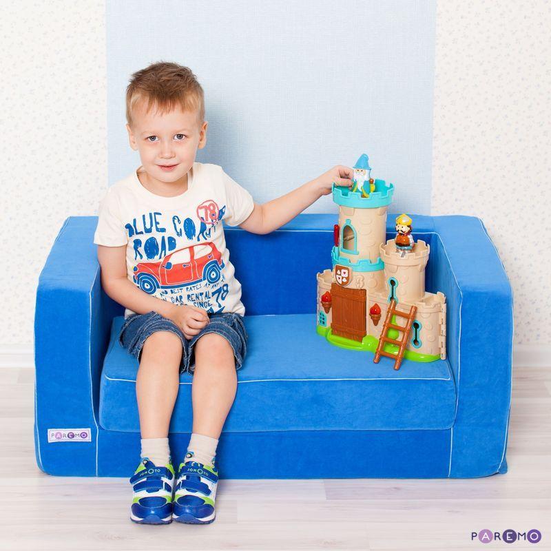 Folding gaming sofa series Classic, col. Light blue