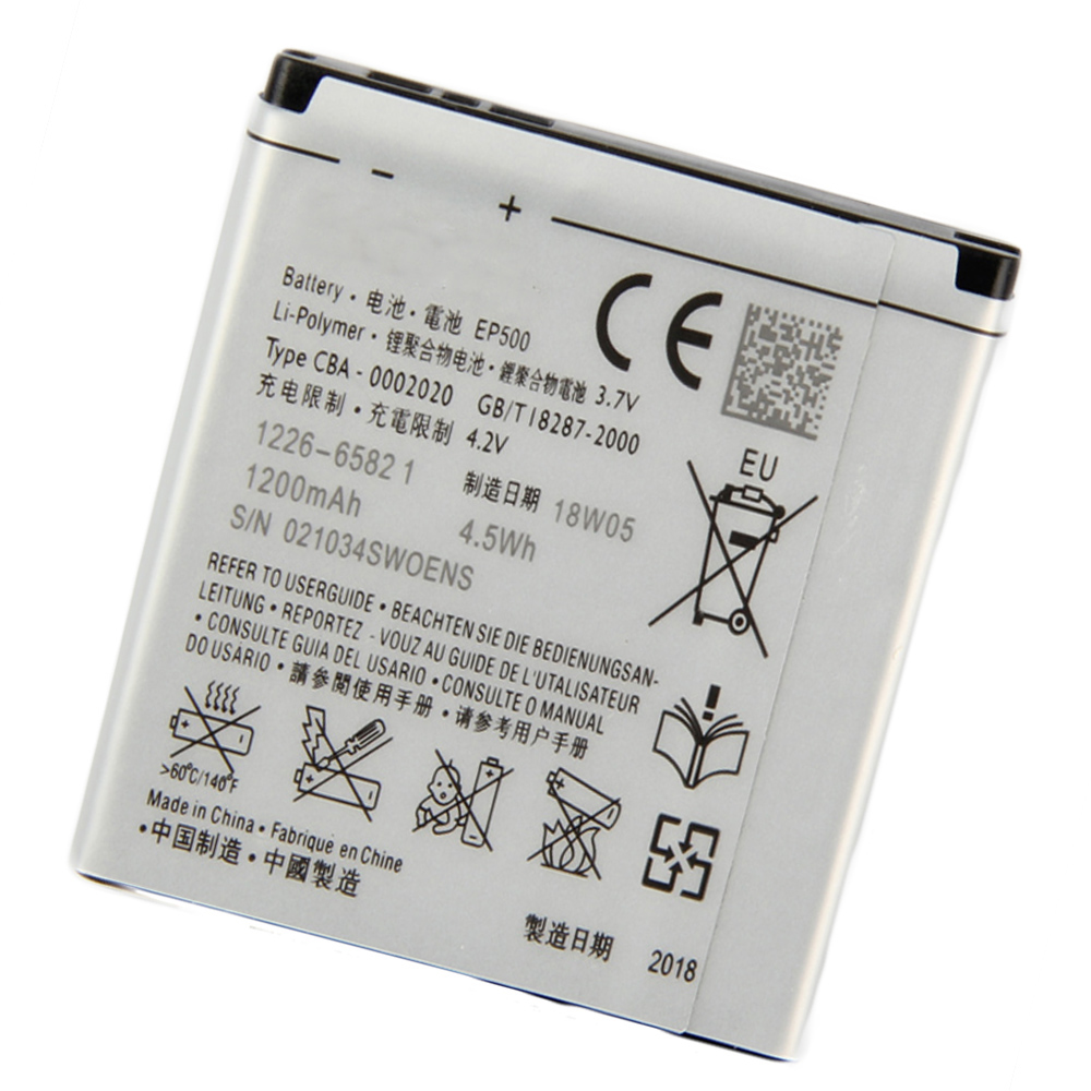 5pcs/lot 1200mAh <font><b>EP500</b></font> <font><b>Battery</b></font> For SONY ST17I ST15I SK17I WT18I X8 U5I E15i wt18i wt19i image