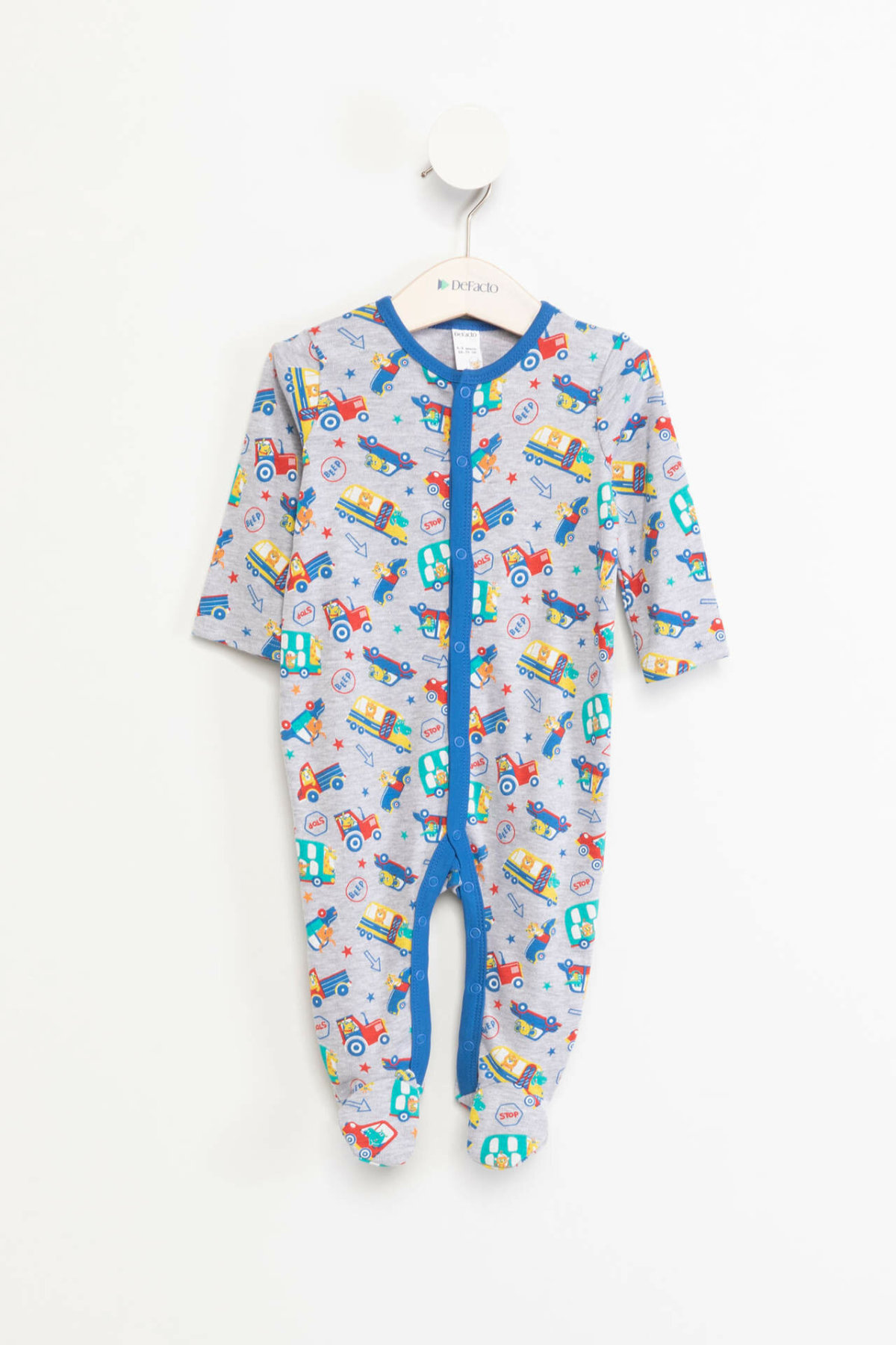 DeFacto Spring Autumn Baby Clothing Newborn Cartoon Soft Rompers Infant Jumpsuit Cute Costumes Pajamas K1487A218WN