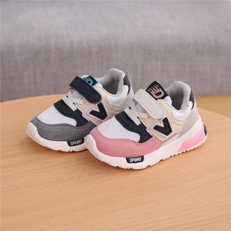 Детские повседневные кроссовки, Демисезонная обувь для маленьких мальчиков и девочек, дышащая мягкая Нескользящая спортивная обувь для бе...