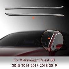 Pièces de pilier avant chromé pour Passat B8, accessoires en acier inoxydable 2015-2016-2017-2018-2019, 2 pièces