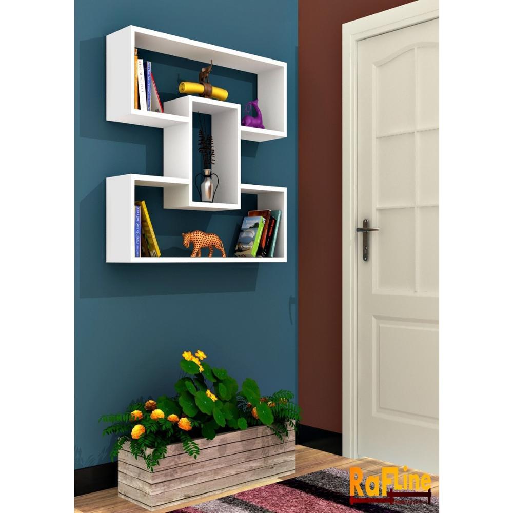 Estantería y estantería hecha en Turquía estantería moderna opciones de Color sala de estar soporte de libro de pared de madera organizador estantería