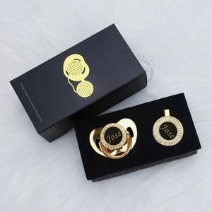 Image 3 - MIYOCAR אישית כל שם יכול להפוך זהב בלינג מוצץ שחור זהב ומוצץ קליפ BPA משלוח dummy בלינג ייחודי עיצוב p8