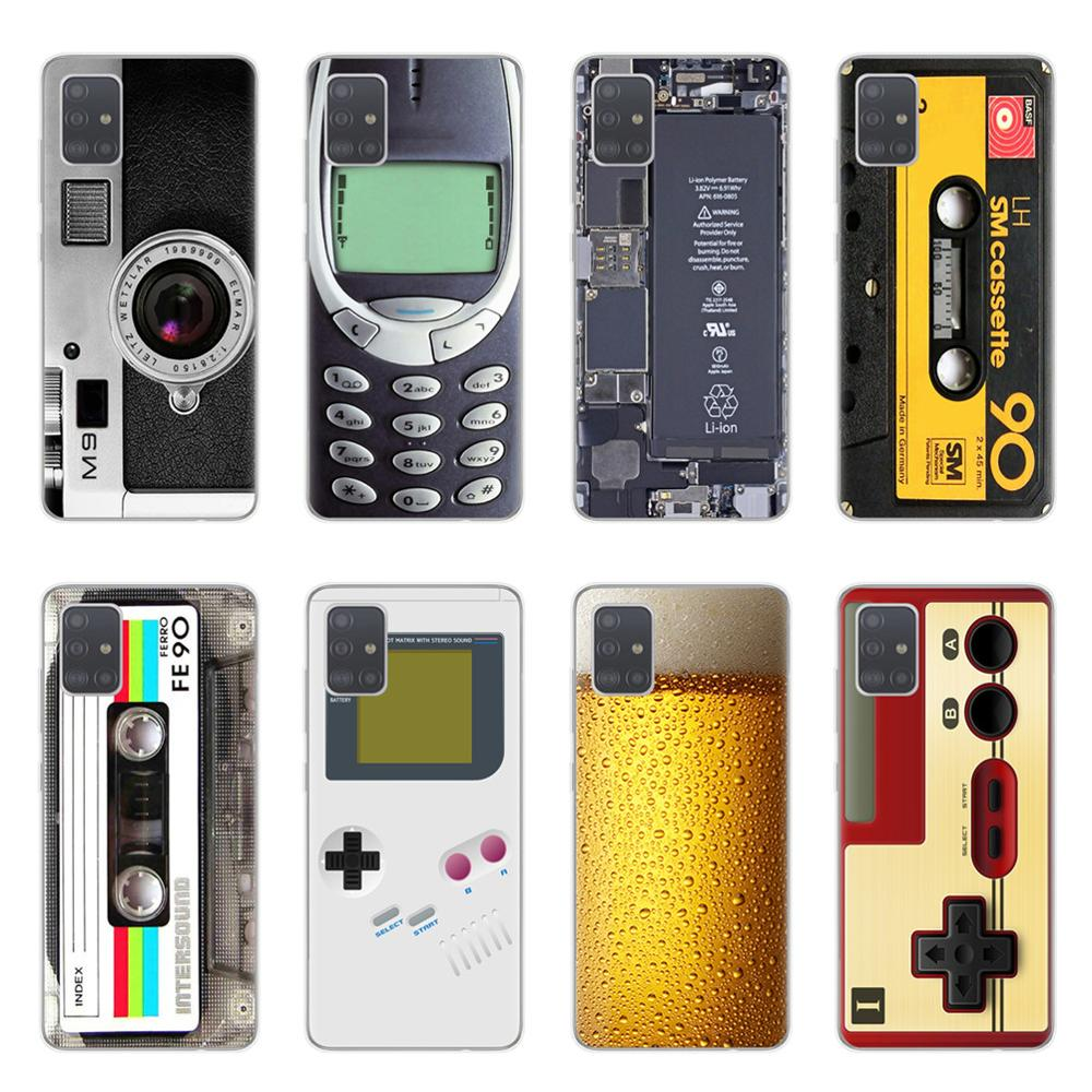 Vintage Tape Camera Gameboy Phone Case For Coque Samsung Galaxy S20 Plus Ultra A10 A20 A30 A40 A50 A70 A51 A71 Soft TPU Cover