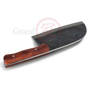 Image 5 - El yapımı çin Cleaver çevre dostu mutfak bıçak dilimleme doğrama şef bıçağı manganez el dövme çelik ev pişirme araçları