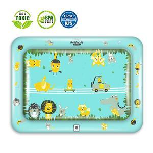 Image 2 - Bauch Zeit Spielen Matte Aufblasbare Baby Wasser Mat Infant Baby Matte Spaß Aktivität Spielen Kleinkinder Spielzeug für 3 12 monate