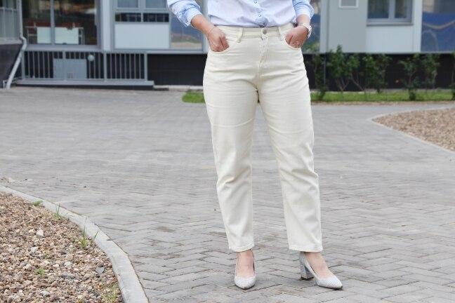 Wide Jeans With High Waist Women Harem Denim Pants Ladies White Straight Boyfriend Jeans Loose For Women Cotton Harem Pants photo review