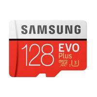Cartão micro sd samsung evo plus MB-MC128G 128 gb vermelho branco