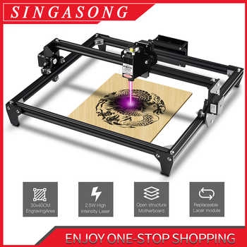 CNC Laser Engraving Machine 2500MW 5.5W 30*40cm 2Axis DIY Engraver Desktop Wood Router/Cutter/Printer + Laser Goggles - DISCOUNT ITEM  39 OFF Tools