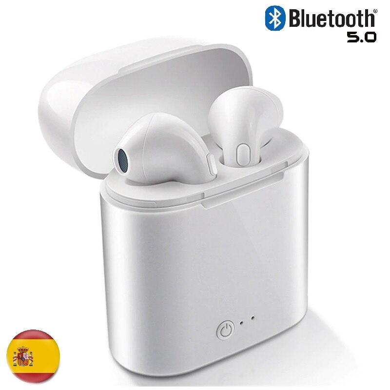 Headphones Bluetooth 5.0 Wireless I7S Universal Hifi Sports Compatible With Device Flashing Iphone Samsung Huawei Xiaomi Universal