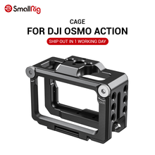 SmallRig vlog kafesi DJI Osmo eylem özelliği ile 1/4 & 3/8 Arri yerleştirme delikli mikrofon EVF montaj takın CVD2360
