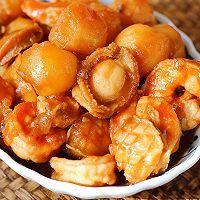 鲍鱼小土豆烧虾球的做法图解16