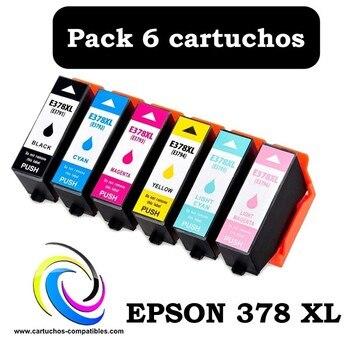 Epson 378 XL pack 6 compatible 378XL XP-15000 XP-8500 XP-8505 XP15000 XP8500 XP8505