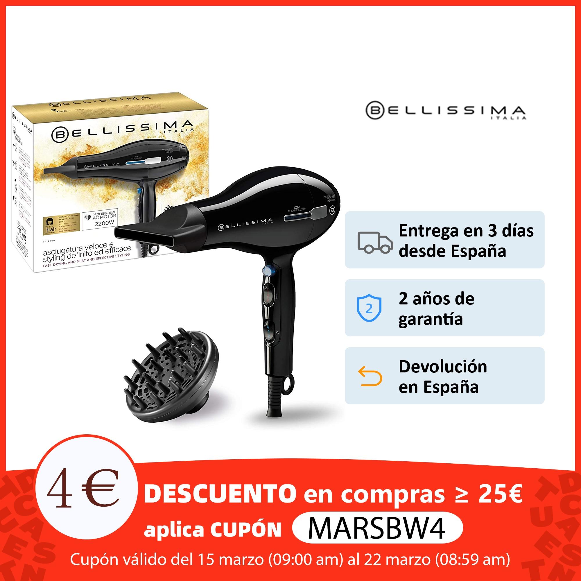 Bellissima Secador de Pelo Profesional P2 2200 Potencia 2200W Motor Profesional CA long life Tecnología, Secadores profesionales    - AliExpress