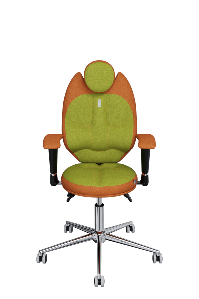 Chair Office KULIK SYSTEM KIDS Orange + Olive For Children/teenagers Computer Эргономичное 5 Zones Control Spine