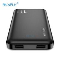 Raxfly power bank 10000 mah carregador portátil powerbank para samsung xiao mi bateria externa móvel 10000 mah poverbank telefone carregador portátil|Baterias Externas|Telefonia e Comunicação -