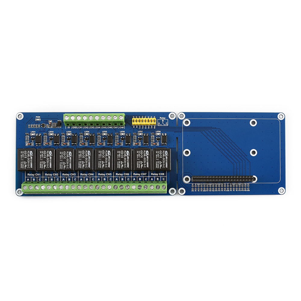 Taidacent 8 Channel Relay Board Raspberry Pi 4B / 3B + 5V Relay Module Expansion Board Opto Isolator Relay Circuit Support PLC
