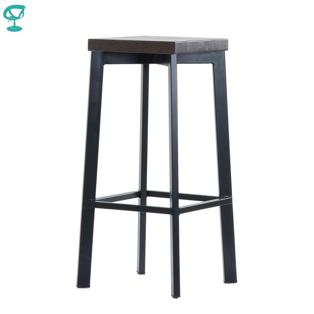 Barneo N-309 High Metal Wood Kitchen Breakfast Interior Stool Bar Chair Kitchen Furniture Black Free Shipping In Russia