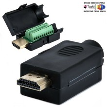Hdmi 19P Plug connector Breakout solder terminals with cover Kit