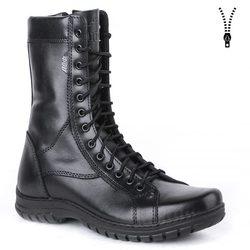 Demiseason del cuoio genuino lace-up nero esercito caviglia stivali da uomo di alta scarpe basse stivali militari 0054/11 WA