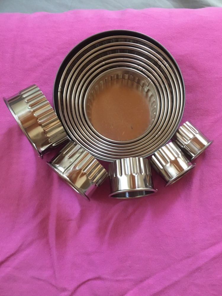 Cortadores de biscoito círculo cortadores pastelaria