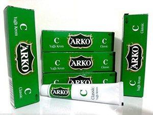 Crema hidratante para la cara y la mano clásica ARKO, 20ML x 5 tubos de Arko