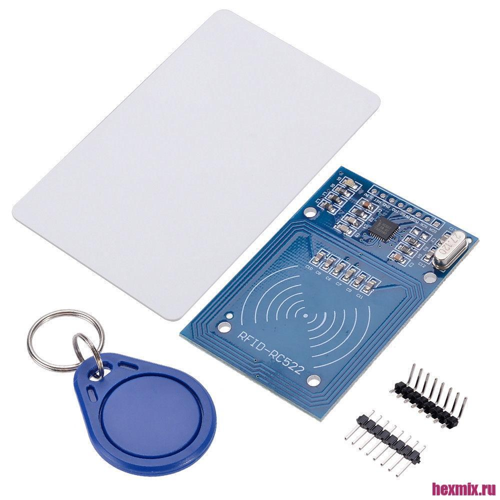 RFID Reader Rc522 13.56 MHz + Card + Keychain