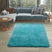 FAMOUS TURKISH QUALITY Large or Small Silky Softness Turquoise Color Area Carpet Rug for Living Room Kitchen Bathroom Bedroom